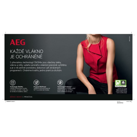 Pračka AEG ÖKOMix® L8FEC49SC - AEG ÖKOMix® L8FEC49SC + Sušička prádla AEG AbsoluteCare® T8DBE68SC (foto 10)