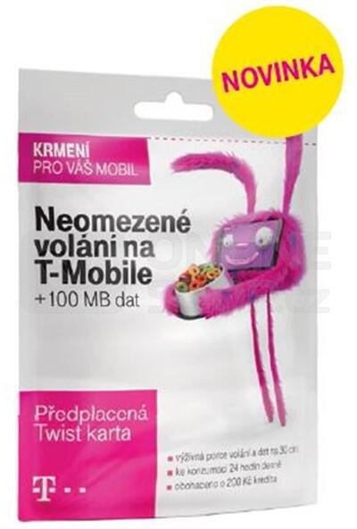 SIM s kreditem T-Mobile Twist V síti 200 Kč kredit