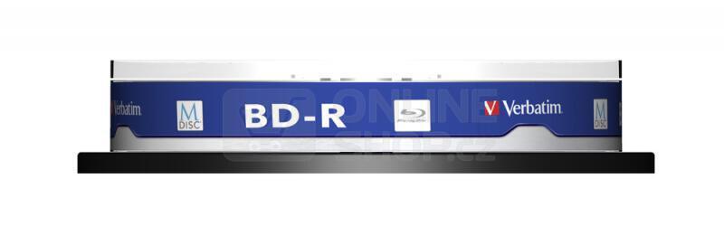 Disk Verbatim BD-R M-Disc 25GB, 4x, printable, 10-cake