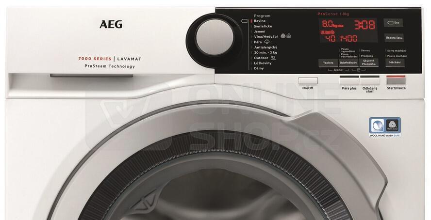 SET Pračka AEG ProSteam® L7FBE48SC + Sušička AEG AbsoluteCare® T8DBG68SC