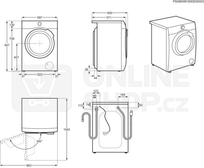 Pračka AEG ProSteam® L7FBE48SC