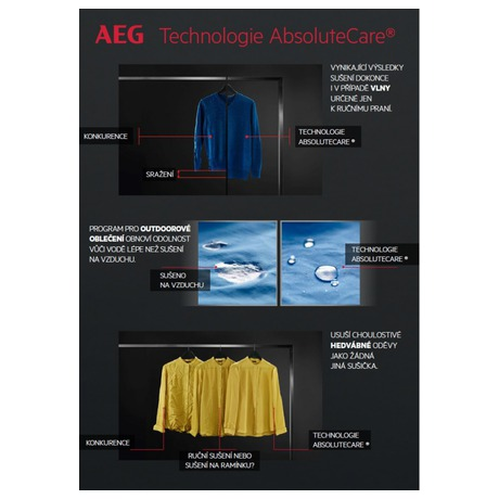 Sušička prádla AEG AbsoluteCare® T8DBE68SC - AEG ÖKOMix® L8FEC49SC + Sušička prádla AEG AbsoluteCare® T8DBE68SC (foto 29)