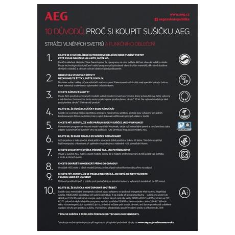 Sušička prádla AEG AbsoluteCare® T8DBG47WC - AEG ProSteam® L7FEE48SC + Sušička AEG AbsoluteCare® T8DBG47WC (foto 22)