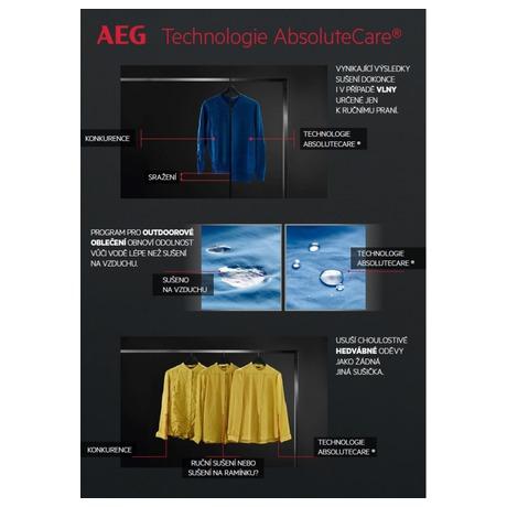 Sušička prádla AEG AbsoluteCare® T8DEC68SC