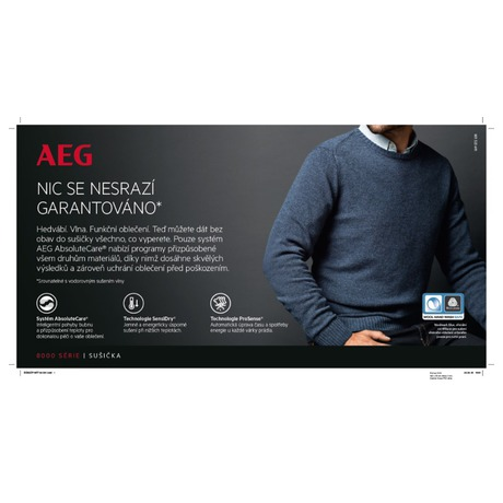 Sušička prádla AEG AbsoluteCare® T8DEE68SC - AEG ProSteam® L7FEE68SC + Sušička AEG AbsoluteCare® T8DEE68SC (foto 26)