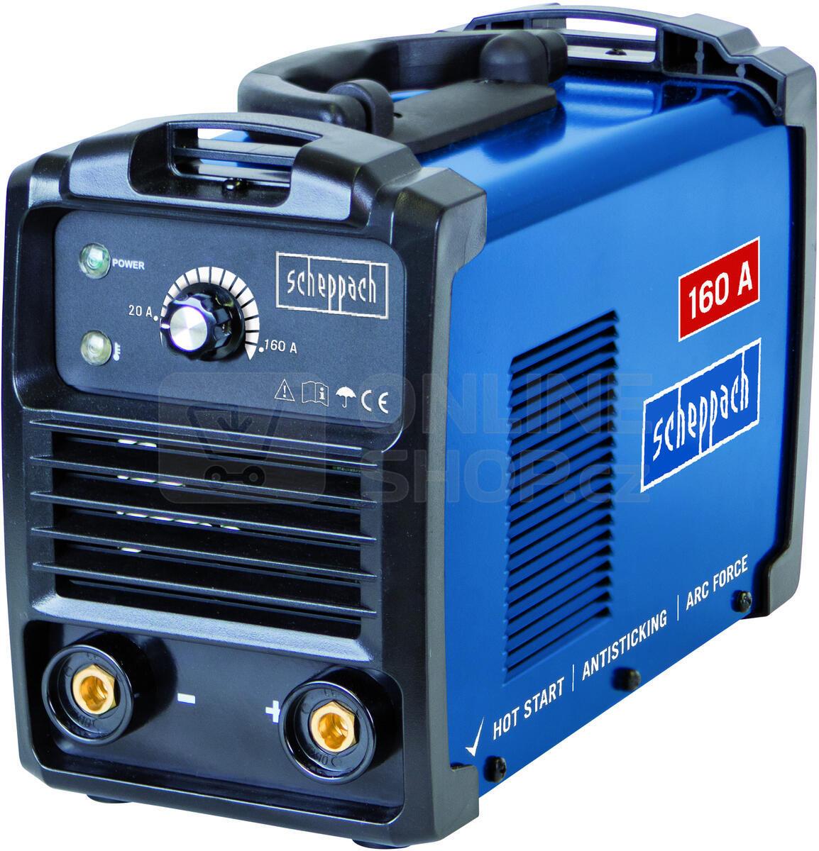 Svářecí invertor Scheppach WSE900 160 A s příslušenstvím
