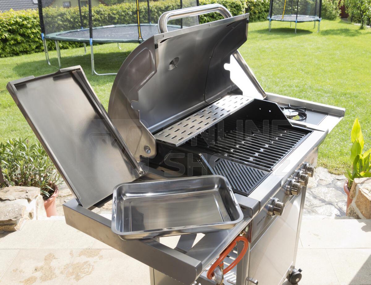 Gril zahradní plynový G21 California BBQ Premium Line, 4 hořáky + OBAL a VENTIL ZDARMA!