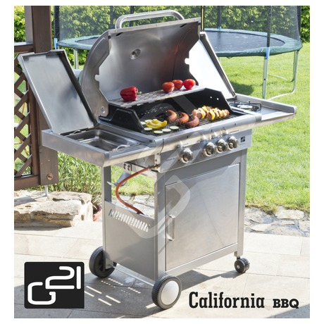 Gril zahradní plynový G21 California BBQ Premium Line, 4 hořáky