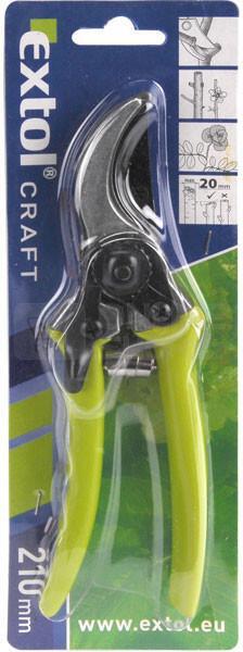 Nůžky zahradnické STANDARD, 210mm EXTOL-CRAFT