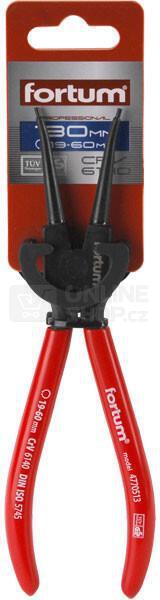 Kleště seeger přímé vnější, 140mm, rozsah 10-25mm, 61CrV4 FORTUM