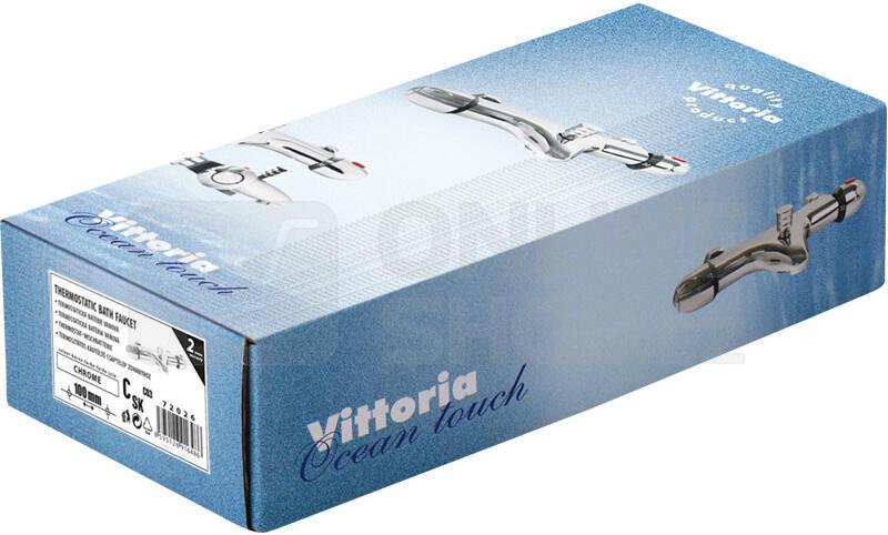 Baterie termostatická vanová, 100mm, keramický ventil, chrom VITTORIA