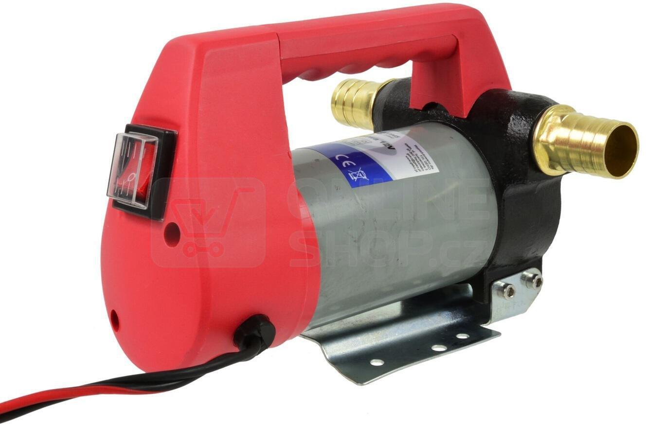 Čerpadlo na naftu, 12V, 155W, 40l/min, plastová rukojeť GEKO