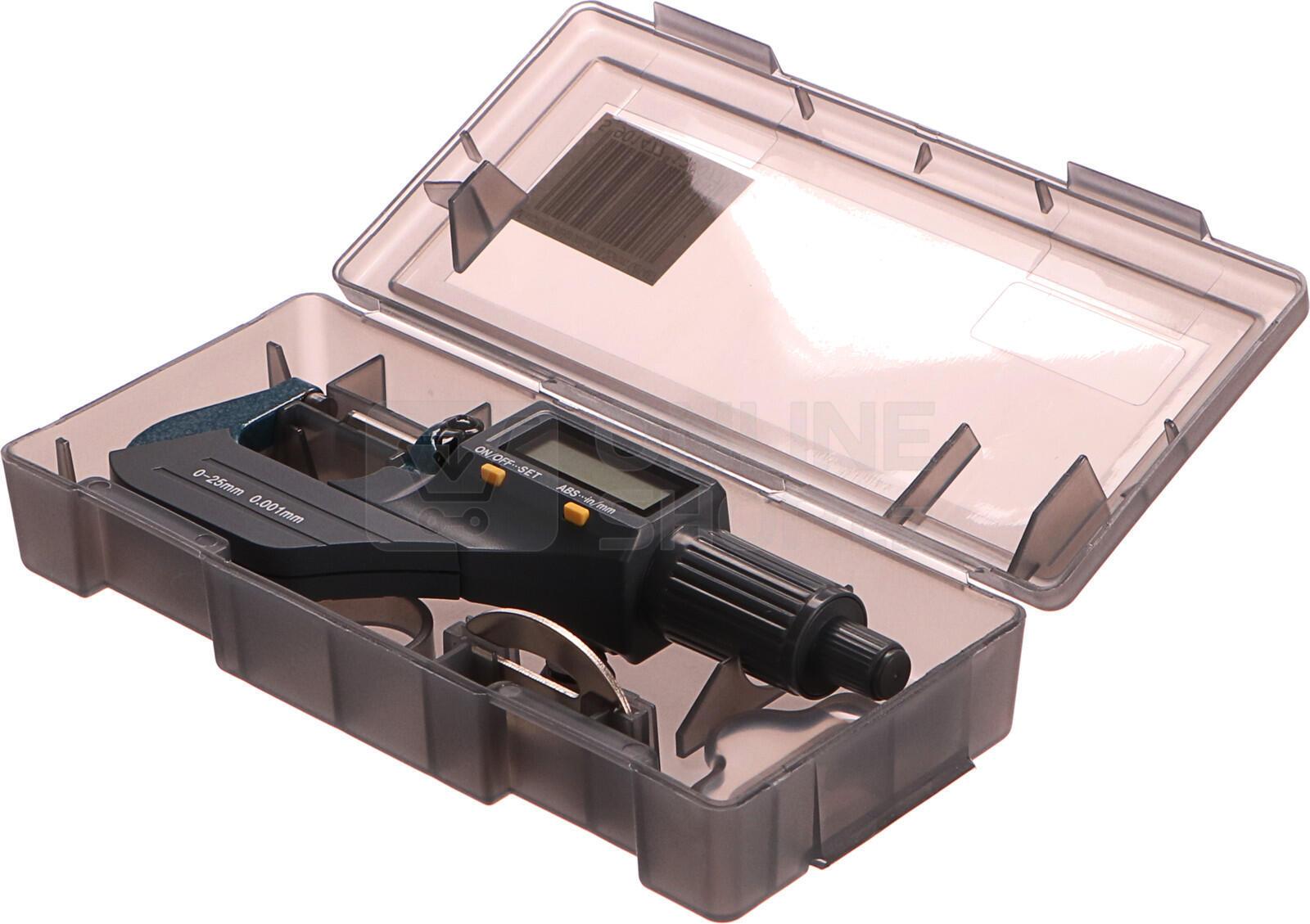 Mikrometr digitální, 0-25mm GEKO