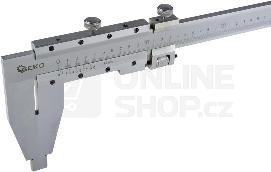 Měřítko posuvné kovové, 0-1000mm x 0,05 GEKO