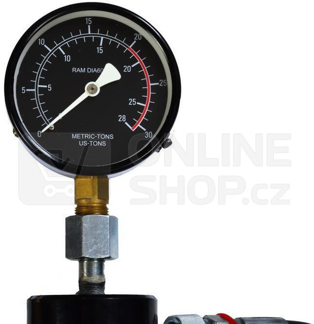 Hydraulický lis s manometrem 20t, dvoustupňové čerpadlo GEKO