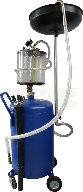 Olejová jímka s odsáváním, 8-10bar, nárž 80l, 2 krabice GEKO