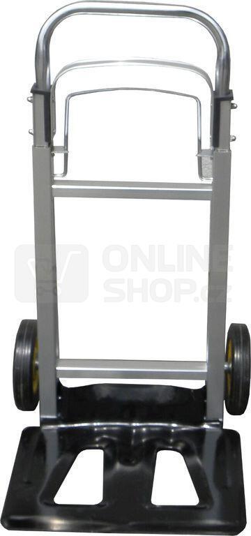 Ruční vozík-rudl, nosnost 90kg 355x240mm, hliníkový skládací GEKO