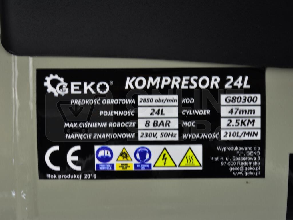 Kompresor olejový, 24l GEKO