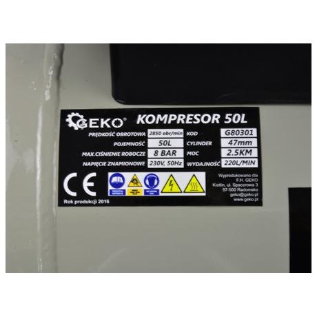 Kompresor olejový, 50l GEKO