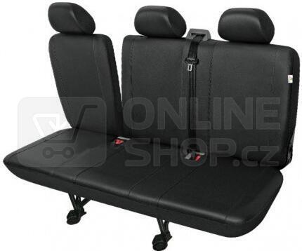 Autopotahy PRACTICAL DV dodávka - 3 sedadla rozdělená, černé SIXTOL