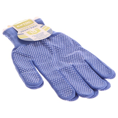 Rukavice z polyesteru s PVC terčíky na dlani, velikost 10