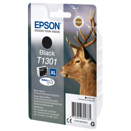 Epson Singlepack Black T1301 DURABrite Ultra Ink (C13T13014012)