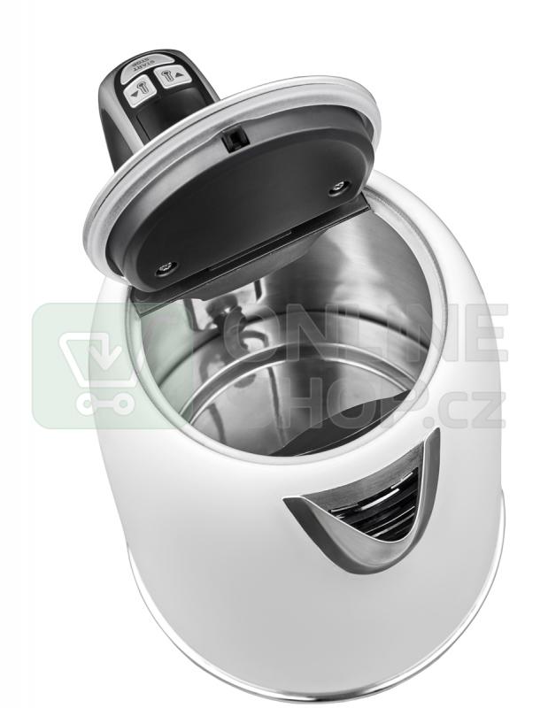 Concept RK3181 Rychlovarná konvice s termoregulací nerezová 1,7 l WHITE
