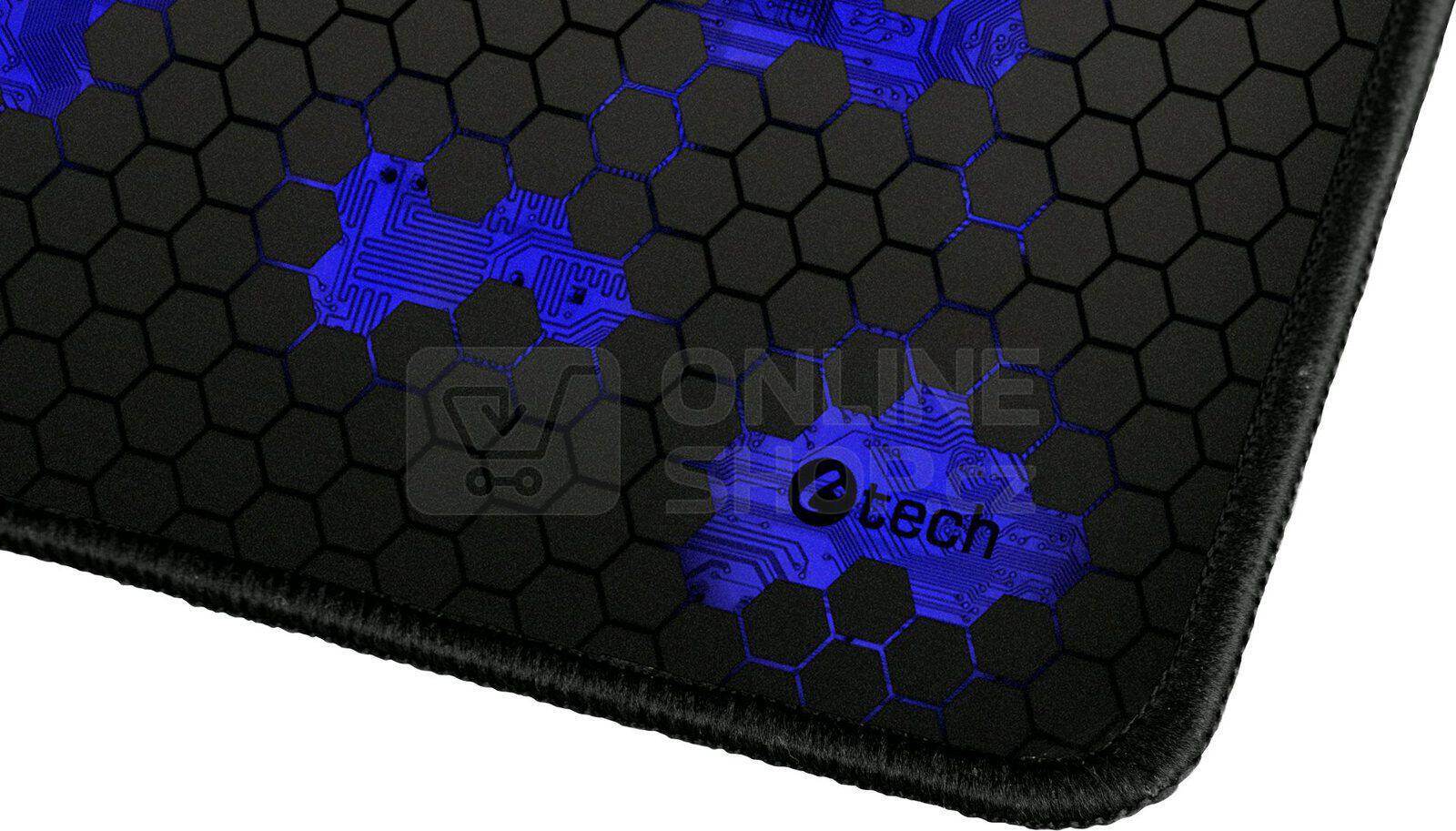 C-TECH ANTHEA, herní podložka, obšité okraje, modrá (GMP-01C-B)