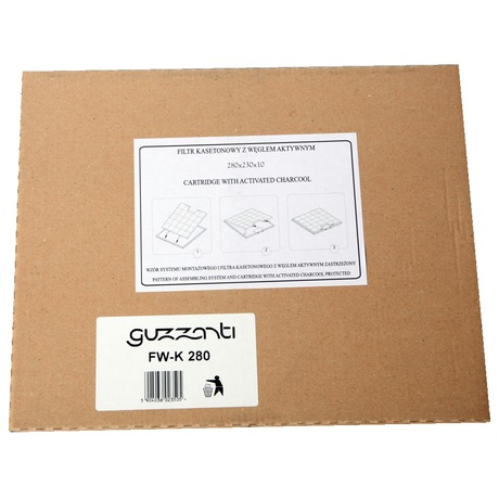 Uhlíkový filtr Guzzanti kazetový 280x230 RW