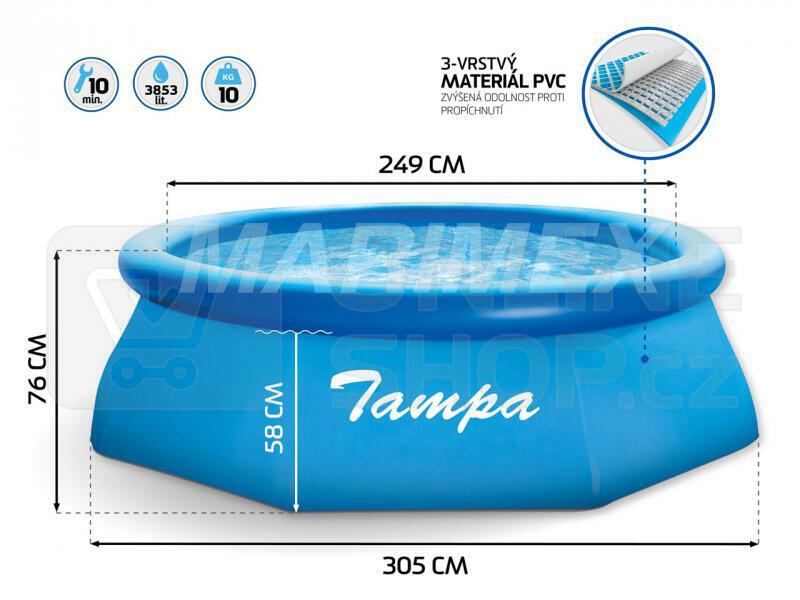 Bazén Marimex Tampa 3,05 x 0,76 m, kartušová filtrace
