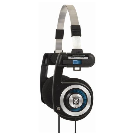 Sluchátka Koss PORTA PRO I (doživotní záruka) - černá/stříbrná - Koss PORTA PRO I- černá/stříbrná (foto 1)