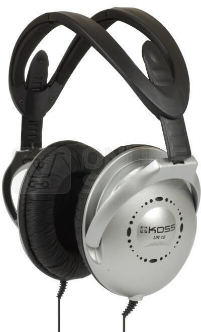 Sluchátka Koss UR 18 - černá/stříbrná