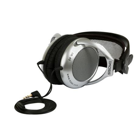 Sluchátka Koss UR 40 (doživotní záruka) - černá/stříbrná - Koss UR40 -černá/stříbrná (foto 1)