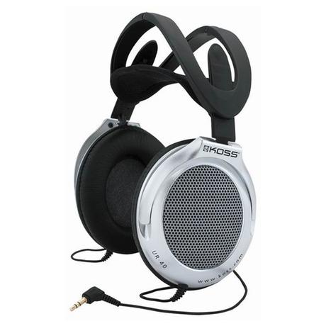 Sluchátka Koss UR 40 (doživotní záruka) - černá/stříbrná - Koss UR40 -černá/stříbrná (foto 2)