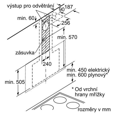 Odsavač par Siemens LC97FVW60 komínový