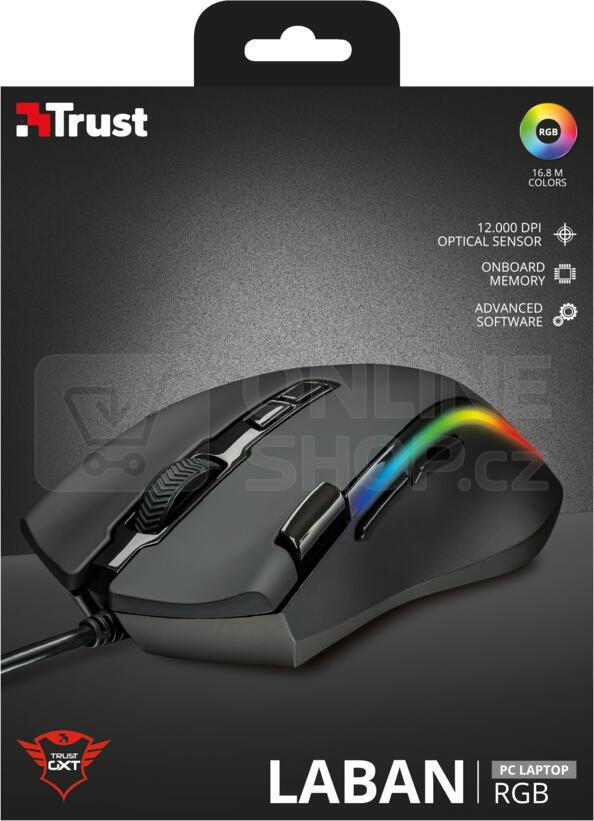 myš TRUST GXT 188 Laban RGB Mouse (21789)