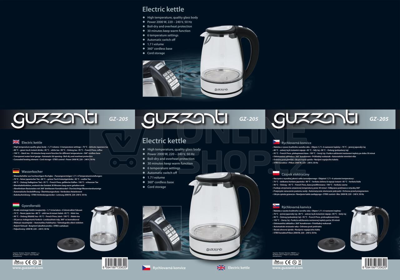 Rychlovarná konvice Guzzanti GZ 205