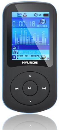 bf415a742 MP3 přehrávač Hyundai MPC 401 FM, 4GB, černý/modrý | ONLINESHOP.cz