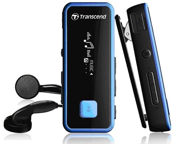 55e517634 MP3 přehrávač Transcend MP350 8GB, černý/modrý | ONLINESHOP.cz