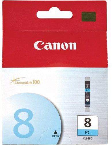 Inkoustová náplň Canon CLI-8PC, 850 stran originální - modrá