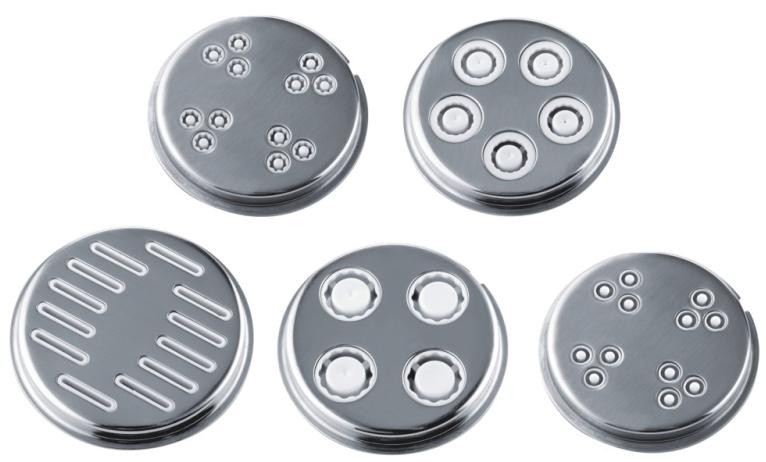 Tvořítka na těstoviny ke kuch. robotům ETA 0028 Gratus, ETA 0128 Gustus a mlýnkům na maso typu ETA 2075 (ETA 0028 97000)