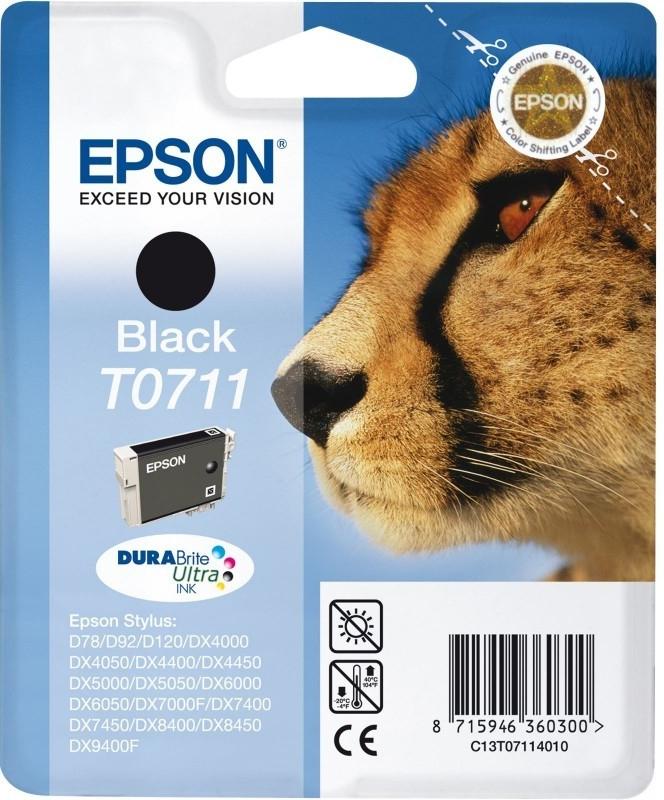 Inkoustová náplň Epson T0711, 2x 11ml originální - černá