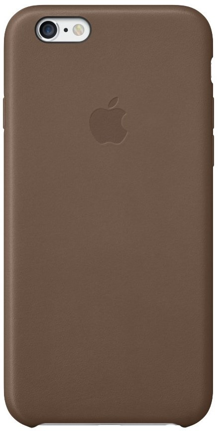 online retailer 38ca3 68767 Kryt na mobil Apple Leather Case pro iPhone 6 Plus / 6s Plus - olive brown