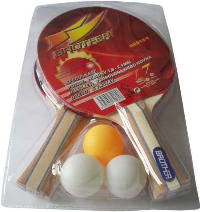 Sada 2 PP pálky+ míček BROTHER 2-star