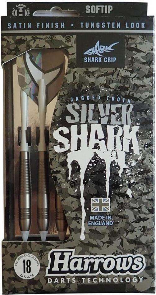 Šipky HARROWS SOFT SILVER SHARK 18g