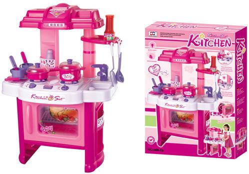 Hračka G21 Dětská kuchyňka DELICACY s příslušenstvím, růžová