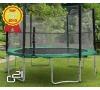 Trampolína G21 s ochrannou sítí 430 cm zelená