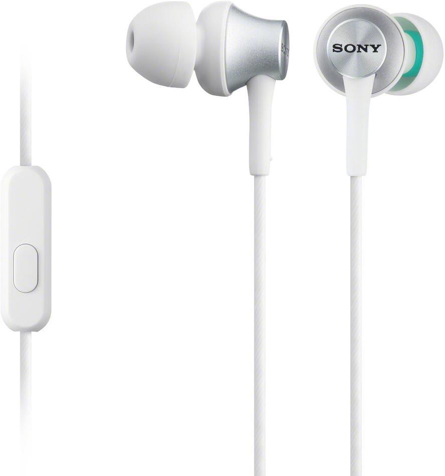 Sluchátka Sony MDREX450APW.CE7 - bílá