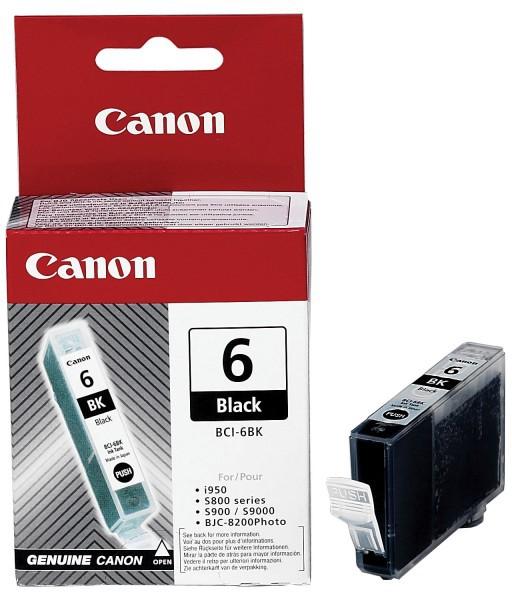 Inkoustová náplň Canon BCI-6Bk, 210 stran originální - černá