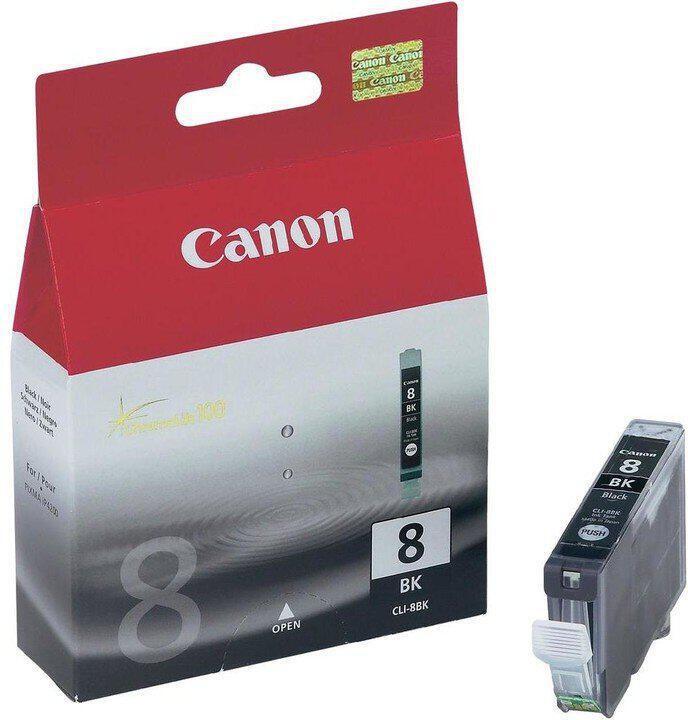 Inkoustová náplň Canon CLI-8Bk, 940 stran originální - černá